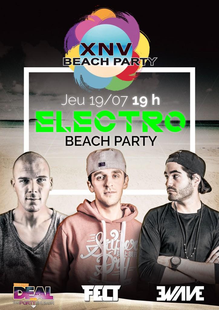 XNV Beach Party : Electro Beach