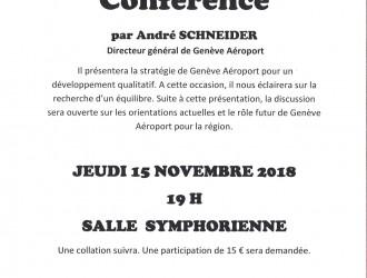 Conférence Genève aéroport